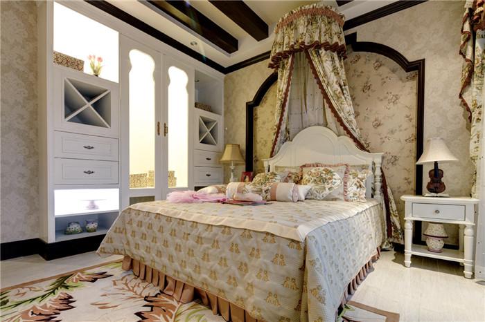重庆装修公司,地中海风格,卧室装修案列